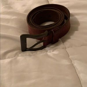 FOSSIL genuine brown leather belt size 36